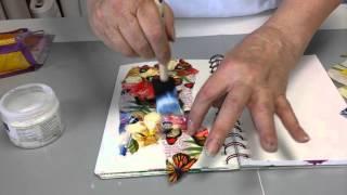 getlinkyoutube.com-Using napkins in your art journal.