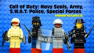 LEGO Call of Duty: Navy Seals Army SWAT Police & Special Forces Minifigures Set 1