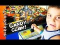 SURPRISE Vending Machine Candy CLAW! HobbyPig + HobbyFrog Try to Get Chocolate HobbyKidsTV