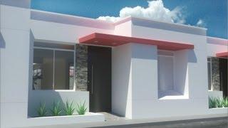 "getlinkyoutube.com-casa moderna de 7.00m x 15.00m, un piso ""Condominio Valle Vista""."