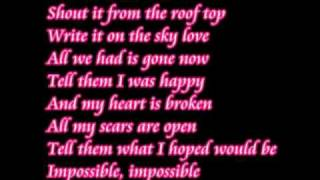 getlinkyoutube.com-Impossible Shontelle lyrics.