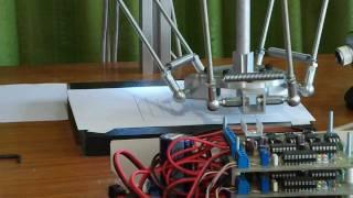 getlinkyoutube.com-Delta robot cnc test