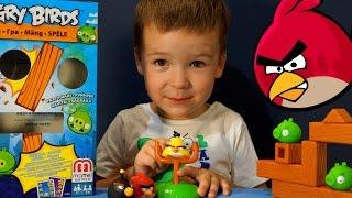 getlinkyoutube.com-Игрушки Энгри Бёрдс на русском языке. Angry Birds Toys Mattel. Игра Энгри Бёрдс.