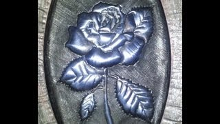 getlinkyoutube.com-COMO HACER UNA  ROSA PLATEADA, HOW TO DO A SILVER ROSE