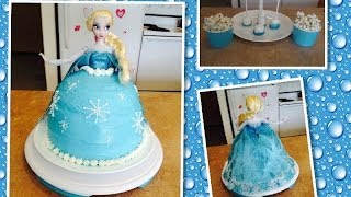 getlinkyoutube.com-Bolo Elsa - Filme Frozen e sugestões de docinhos pra festa.