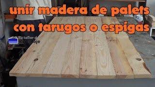 getlinkyoutube.com-Cómo unir madera de palets con tarugos o espigas