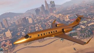 getlinkyoutube.com-Grand Theft Auto 5 Multiplayer - $10 MILLION GOLD JET! (GTA Online Luxor Deluxe DLC)