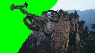 getlinkyoutube.com-Avatar Scorpion Gunship after video effects - green screen effects