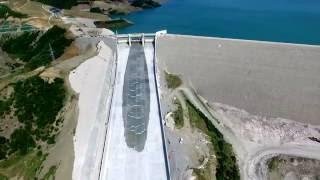 getlinkyoutube.com-Opening of the spillway gate - Banja Dam