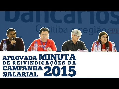 Assembleia de aprovação da Minuta 2015