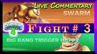 Skylanders Swap Force Battle Mode 4th Tournament Fight # 3 Swarm Vs Big Bang Trigger Happy
