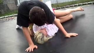 getlinkyoutube.com-Trampoline wrestling.