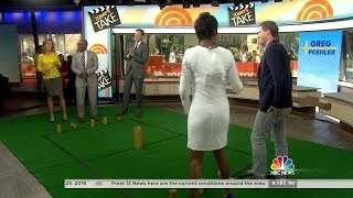 getlinkyoutube.com-Tamron Hall in tight dress and high heels - 25-Jun-2015