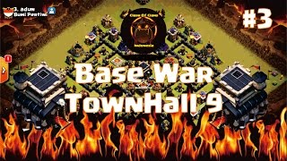 #3 Base War TH 9 Keren Anti 2 Star + Replay