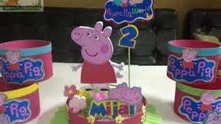 getlinkyoutube.com-CENTROS de MESA de PEPPA PIG + de 30 iDEAS para FIESTAS