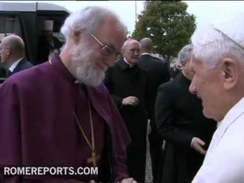 Papa rezar en Roma junto al primado de la Iglesia anglicana Rowan Williams