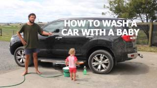 getlinkyoutube.com-HOW TO WASH A CAR WITH A BABY