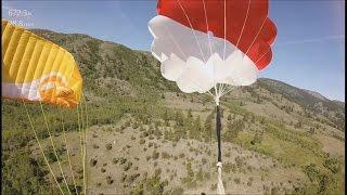 getlinkyoutube.com-Paraglider accident, reserve parachute. Accident parapente. Camera Virb X from Garmin