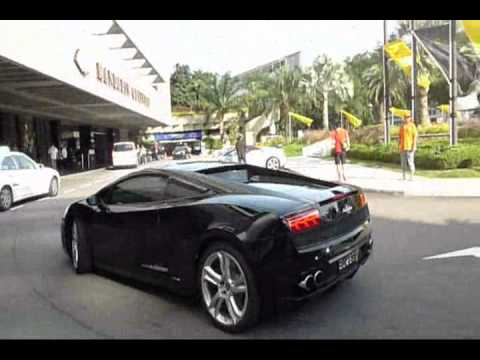32 Lamborghinis Arriving For Dinner at Mandarin Oriental  Singapore