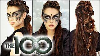 getlinkyoutube.com-Commander Lexa Hair & Makeup Tutorial! | The 100