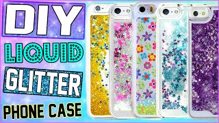 getlinkyoutube.com-DIY Liquid Glitter iPhone Case! | Make Your Own Water Filled Phone Case! | Cheap & Easy To Make!