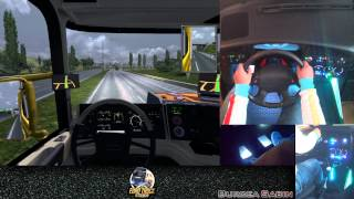 getlinkyoutube.com-Euro Truck Simulator 2 - Driving Simulation Cockpit Test