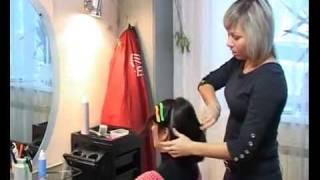 getlinkyoutube.com-Прическа на короткие волосы.