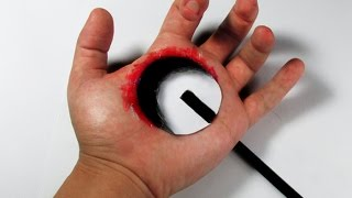 getlinkyoutube.com-COMO FAZER BURACO 3D na mão. (desenho)