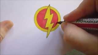 getlinkyoutube.com-How To Draw The Flash Logo