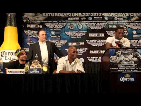PAULIE MALIGNAGGI v ADRIEN BRONER - FULL, UNCUT & UNCENSORED PRESS CONFERENCE / iFILM LODNON