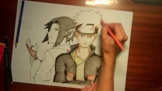 getlinkyoutube.com-Мастер-класс по рисованию: Наруто и Саске