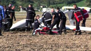getlinkyoutube.com-GLIDER CRASH NR THE FRENCH TOWN OF TALLARD ALONG THE DURANC RIVER VALLEY D942