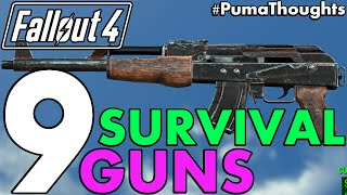 getlinkyoutube.com-Top 9 Best Guns and Weapons from Fallout 4's Survival Mode (Including DLC) #PumaCounts