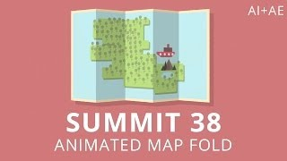 getlinkyoutube.com-Summit 38 - Animated Map Fold - After Effects
