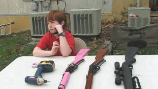 getlinkyoutube.com-Backyard Shoot with Alex - Crosman 1077AS and Pink Red Ryder