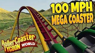 getlinkyoutube.com-RollerCoaster Tycoon World Gameplay Part 1 - Building a 100 MPH Floorless Coaster