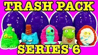 getlinkyoutube.com-Trash Pack Series 6 Rotten Surprise Eggs 5 &12 Pack Unboxing FIRST REVIEW ON YOUTUBE