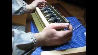 getlinkyoutube.com-Сверлильный станок на рамку Дадана 5 отверстий.