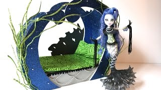 getlinkyoutube.com-How to make a Sirena Von Boo Doll Bed Tutorial - Monster High