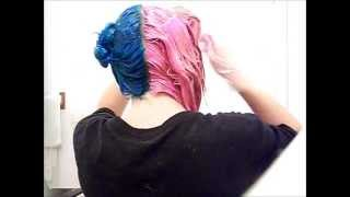 getlinkyoutube.com-how i dyed my hair half blue and half pink