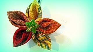 getlinkyoutube.com-Como hacer flores de tela para el cabello con pétalos en punta. Hair flowers.