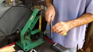 getlinkyoutube.com-Homemade Sanding Belts for Harbor Freight Belt Sander