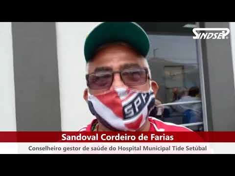 Não à Privatização | Protesto contra o sucateamento que levou a incêndio no Hospital Tide Setúbal