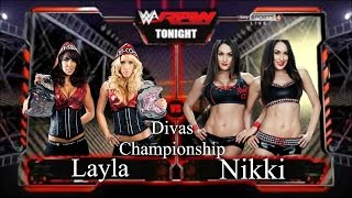 getlinkyoutube.com-WWE 2K16 Raw Layla vs Nikki Bella Divas Championship