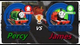 getlinkyoutube.com-Thomas & Friends: Go Go Thomas! – Percy VS James