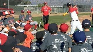 getlinkyoutube.com-BASEBALL: Baseball Super Star Domingo Ayala Visits REV Baseball Camp