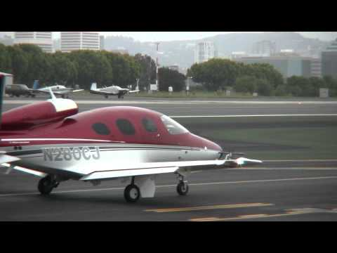 Cirrus Vision SF50 Low Level Fly-By at SMO