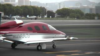 getlinkyoutube.com-Cirrus Vision SF50 Low Level Fly-By at SMO