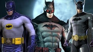getlinkyoutube.com-Batman: Arkham Knight - All Costumes and Batmobile Skins