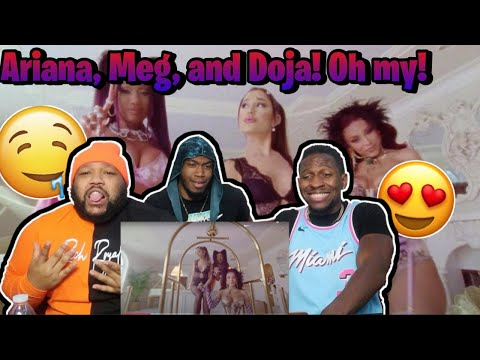 Ariana Grande - 34+35 Remix (feat. Doja Cat and Megan Thee Stallion) (Official Video) REACTION!!